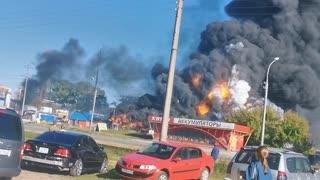Gas Station Explodes in Novosibirsk