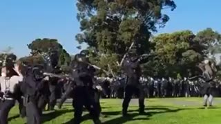 Melbourne Australia: Police fire rubber bullets at people gathering to protest against lockdowns