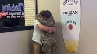 Soldier surprises boyfriend after being away for 6 months ....!!!!