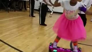 Wow, Little girl shows off hoverboard dance moves,..