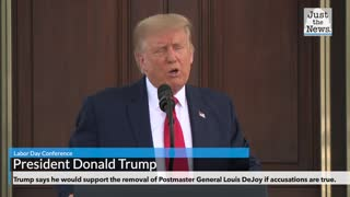 President Trump Speaks about Postmaster General