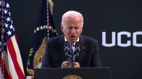 Joe Biden mimikry of the evil