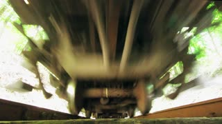 See a moving train from below!!!