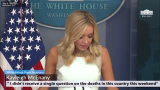 """I didn't receive a single question on the deaths this weekend"""