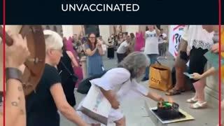 Vaccinated Burn Their Vaccine Passports