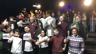 Michael Bloomberg supporters dancing
