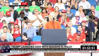 Pastor Paula White Delivers Opening Prayer Against 'Demonic Networks' at Trump Reelection Rally