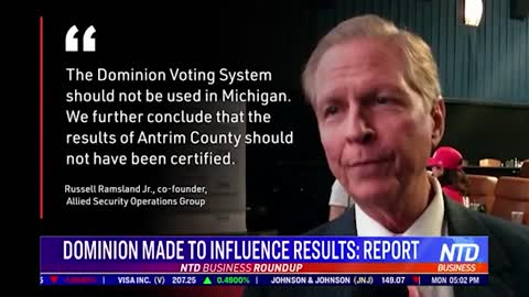 NTD Video: New Forensic Report on Dominion Voting Machines.