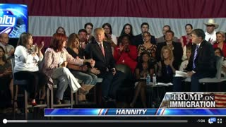 Sabine at Hannity Townhall WIth Donald Trump