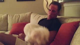Wife Secretly Videos Husband Jamming to Heart's Barracuda with Dog!