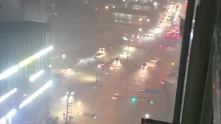 Flooding in Yeonsan-dong, Busan