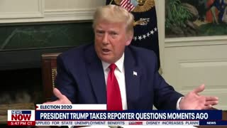 """""""I'm the President"""" - President Trump Snaps at """"Lightweight"""" Reporter"""