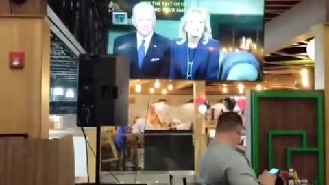 Biden standing ovation