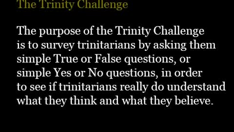 The Trinity Challenge