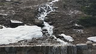 Melting snow in the Rocky Mountains