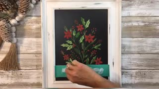 Holiday Floral ~ DIY Home Decor ~ Crafts