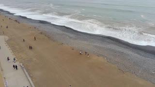 Footage Drone recording near the beach.