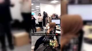 Coworkers Surprises Their Deaf Friend On Her Birthday