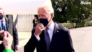 Joe Biden's battle against stairs