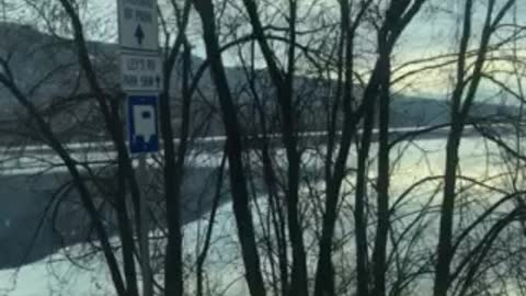 Driving Woods Lake