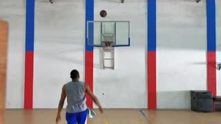Obinna Ezeike self rebound basketball shooting drill