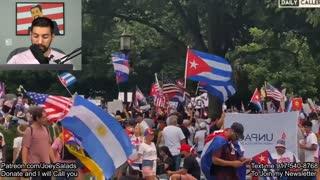 Large Pro-Cuba Protest outside White House