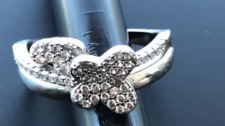 Amazing Beautiful butterfly diamonds ring amazing