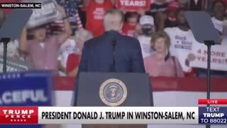 Trump chant vs Biden chant
