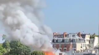 incendio all'ambasciata italiana a parigi