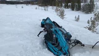 Snowmobile Backflip Fail