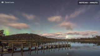 Incrível aurora austral registrada em time-lapse