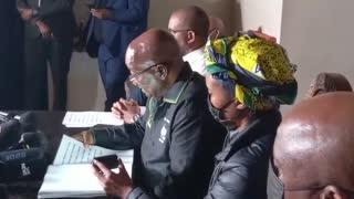 Former president Jacob Zuma addresses the nation on Sunday.