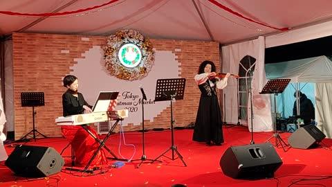 Live Japanese Violinist & Pianist at Tokyo Christmas Market 2020