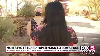 Las Vegas mother alleges that substitute teacher taped face mask to 4th grader's face