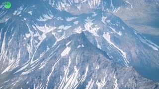 Aerial View Landscape of Mountais with Snow covered