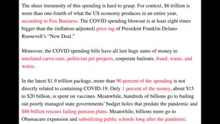 Covid Spending Could Have Given Each Taxpayer $41k