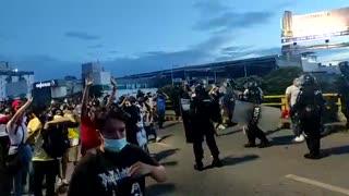 Video: Disturbios en el sector de la Puerta del Sol de Bucaramanga