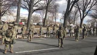The military turned their backs to Joe Biden's motorcade