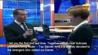 President Medvedev talks about aliens
