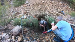 Gold dredging Blackhawk Colorado clear creek canyon