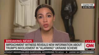 AOC speaks with Wolf Blitzer about impeachment efforts