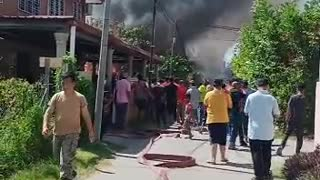 House catches on fire during Ramadan.