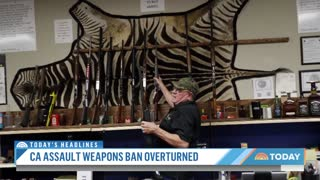 Federal Judge Strikes Down California's Assault Weapons Ban TODAY