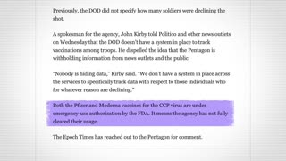 Mark Zuckerberg dpubted Vaccine. 1/3 Military not taking Vaccine