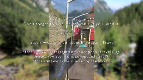 Bernina Express in a open-air car