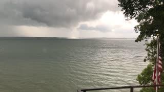 Water Spout Spins Along Minnesota Lake