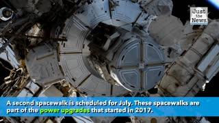 NASA astronauts prepare for two spacewalks
