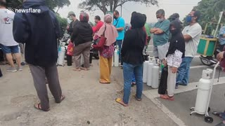 Indonesia experiencing oxygen shortage amid surge of COVID-19 cases