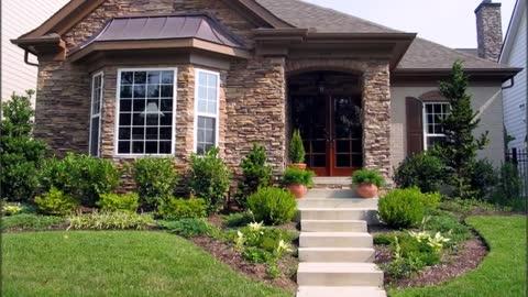 Top Design A special Home Façade is A Stone Rrnament
