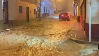 Videos: Fuerte Aguacero ocasionó emergencias en Socorro, Santander